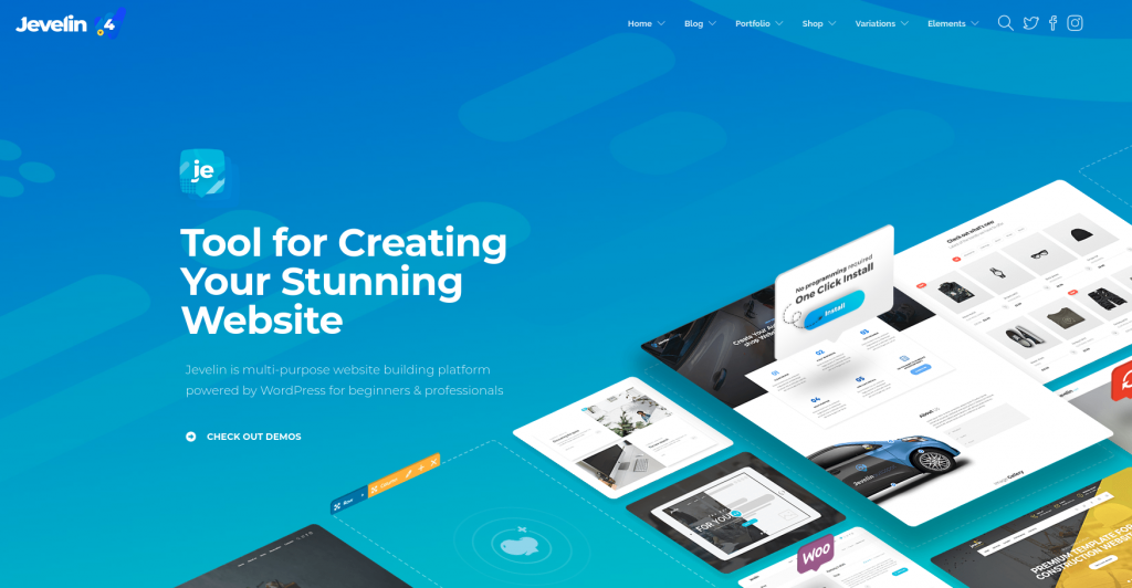 Jevelin is one of the best ecommerce themes in wordpress