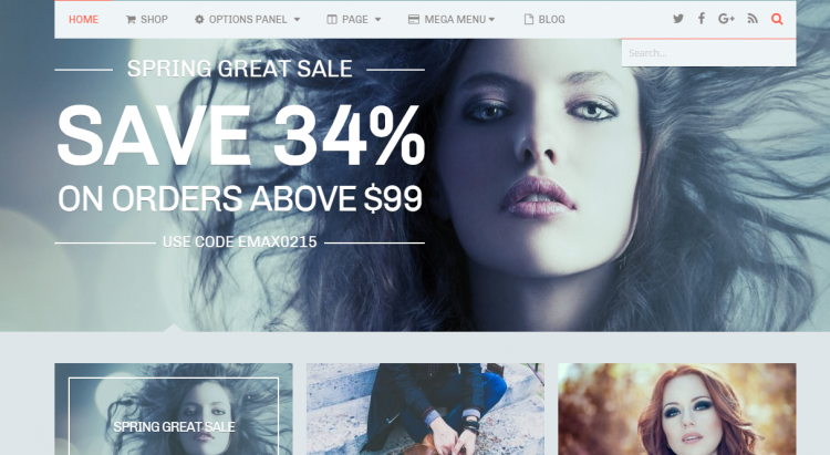 eMaxstore is one of the best ecommerce themes in wordpress