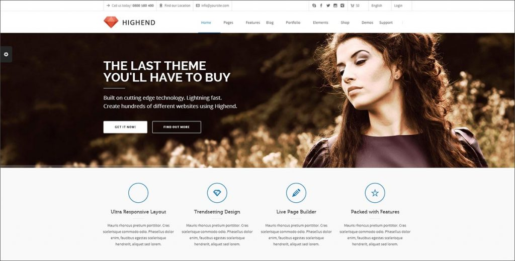 Highend best premium wordpress theme for blogs